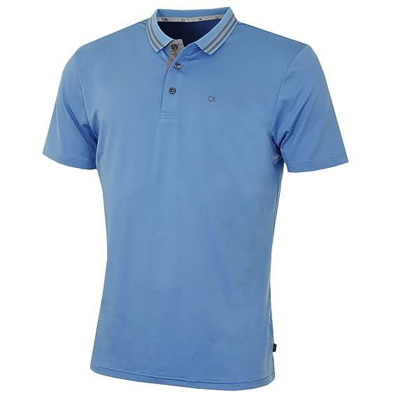 4221c6ce Calvin Klein Golf Mens CK Tech Madison Lightweight Stretch Polo Shirt:  Amazon.co.uk: Clothing