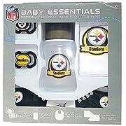 Pittsburgh Steelers Baby Essentials 5 Piece Newborn Infant Baby Shower Gift Set