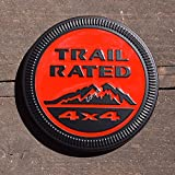 zorratin Metal Trail Rated 4x4 Round Emblem Badge for Jeep Wrangler Unlimited JK Cherookee Rubicon Liberty Patriot Latitude