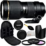 Tamron 70-200mm f/2.8 Di LD (IF) Macro AF Lens for Canon with Manufacturer Accessories + 77mm 3 Piece Filter Kit (UV+FLD+CPL), Dust Blower, Lens Backpack & Microfiber Cleaning Cloth