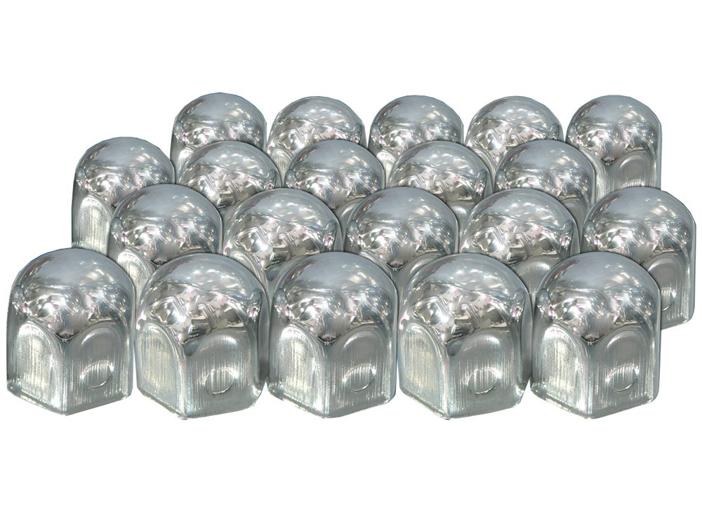 Eufab 15231-20 Cappucci cromati per viti di ruota, in metallo, 19 mm