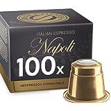 Italian Espresso Napoli by REAL COFFEE, Denmark, 100 Capsules, Nespresso Compatible