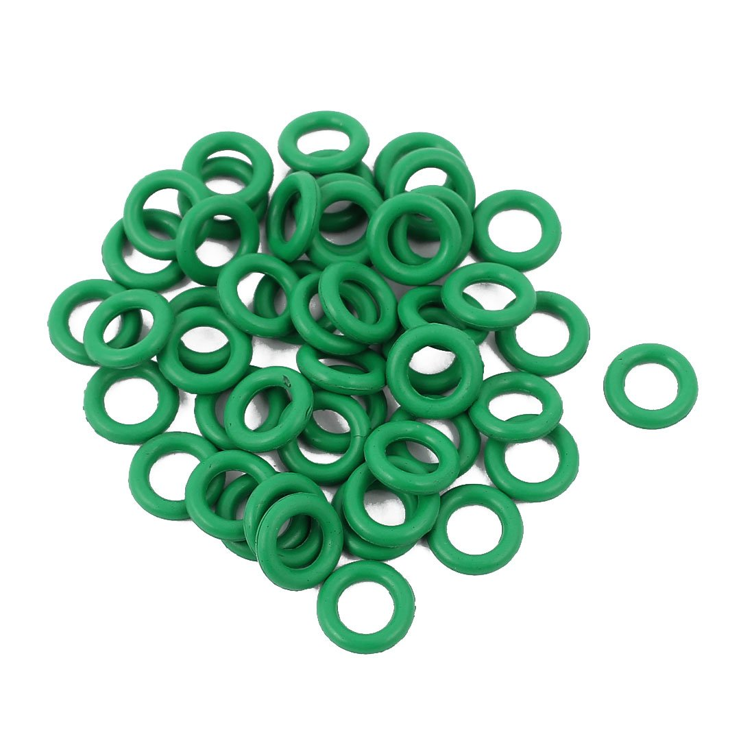 uxcell 50pcs 1.5mm Thick Heat Resistant Mini Green O-Ring Rubber Sealing Ring 7mm OD a16111800ux1218