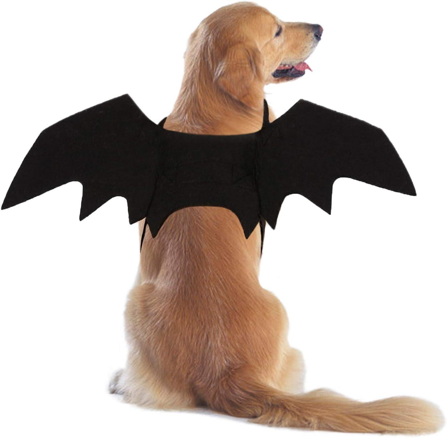 Ehdching Cat Costume Halloween Pet Bat Wings Cat Dog Bat Costume