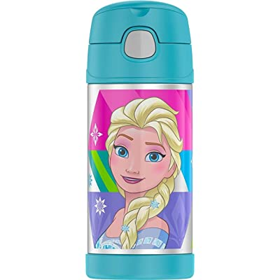 Thermos Disney Frozen Funtainer 12 Ounce Bottle - Aqua (Design May Vary): Toys & Games