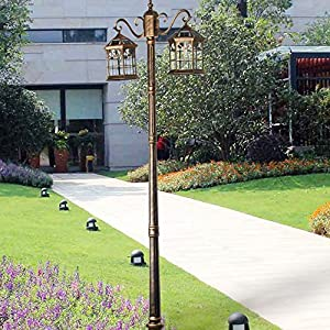 Kendal 8 feet high outdoor solar lamp post with two heads and LED Lights  bronzeAmazon com   Kendal 8 feet high outdoor solar lamp post with two  . Outdoor Solar Lamp Post. Home Design Ideas