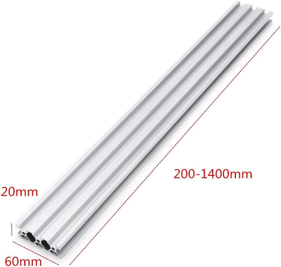 100mm 100-800mm Silver 2040 V-Slot Aluminum Profile Extrusion Frame For CNC Tool DIY