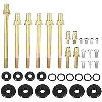 Terisass Car Cylinder Head Stud Kit Fit for Chevrolet LS1 LS3 5.3L 5.7L 6.0L Engines 2004-Newer Stainless Steel Cylinder Gasket Head Stud Bolt Kit