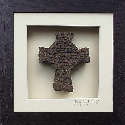 """Diseño trébol de cruz (""""Hochkreuz""""), de la turba, enmarcado"""