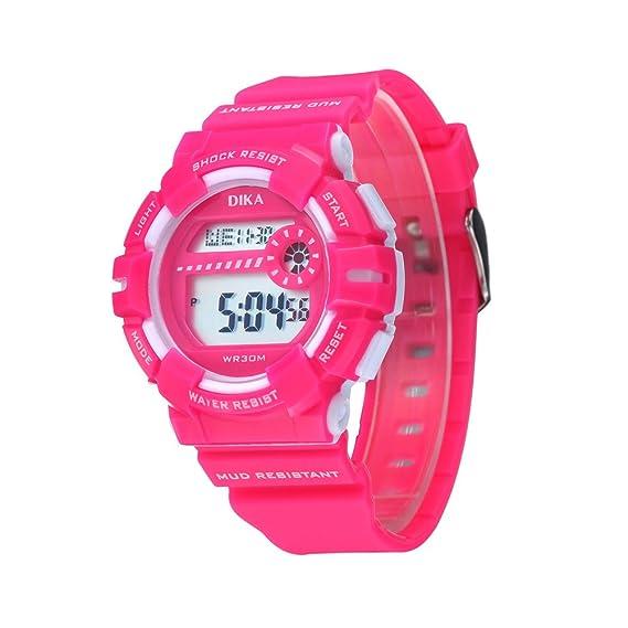 Los niños y niñas reloj digital/ hora/ reloj/Resistente al agua relojes digitales-B: Amazon.es: Relojes