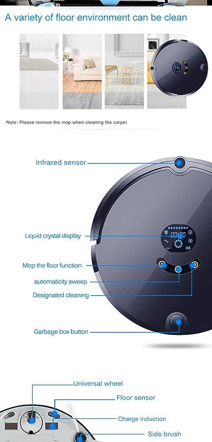 Robot Aspirador, Aspirador Robótico con App Y Alexa Control, Diseño Delgado para Suelos Duros Y Alfombras: Amazon.es: Deportes y aire libre