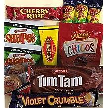 Best of Australia - Tim Tam, Vegemite, Anzacs, Caramello Koala, BBQ Shapes, Chicos, Cherry Ripe and Violet Crumble.