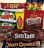 Best of Australia - Tim Tam, Vegemite, Anzacs, Caramello Koala, BBQ Shapes, Chicos, Cherry Ripe and Violet Crumble.