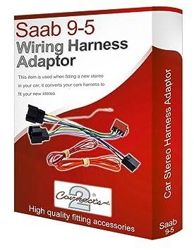 saab 9-5 95 cd radio stereo wiring harness adapter lead loom iso converter  wire
