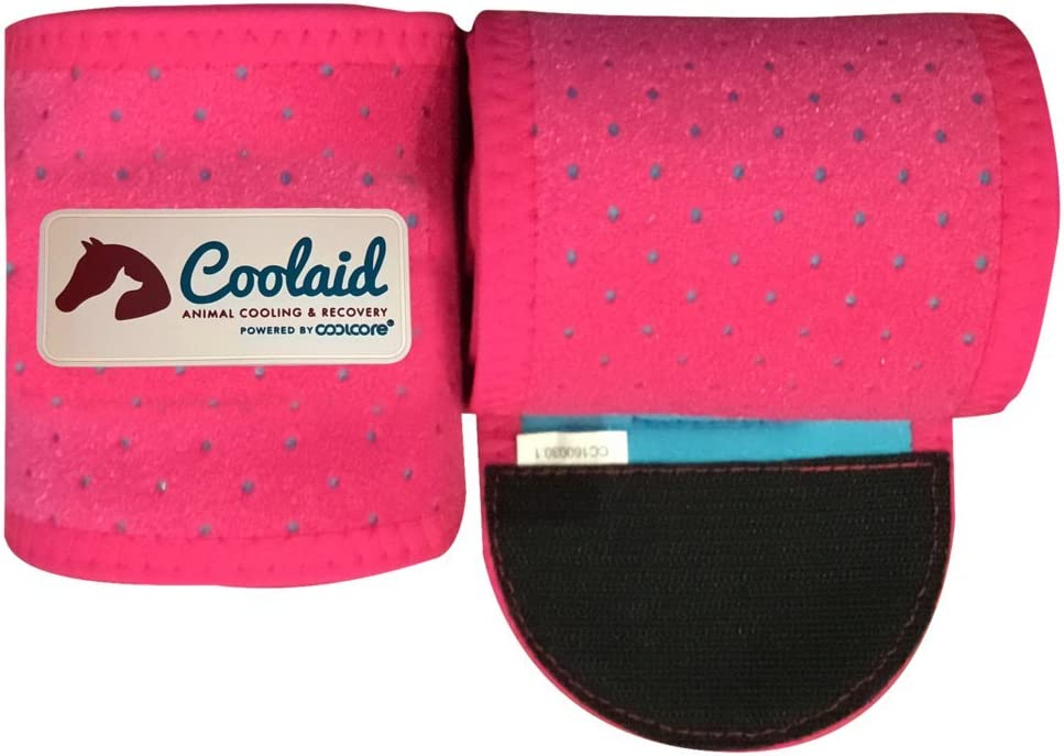 Coolaid Equine Premium Icing and Cooling Leg Wraps for Horses