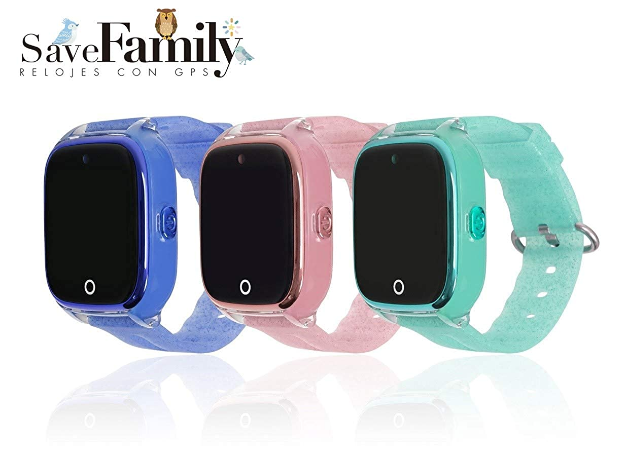 Reloj con GPS para NIÑOS Save Family Modelo Superior ACUÁTICO con Camara Color Rosa Glitter: Amazon.es: Relojes