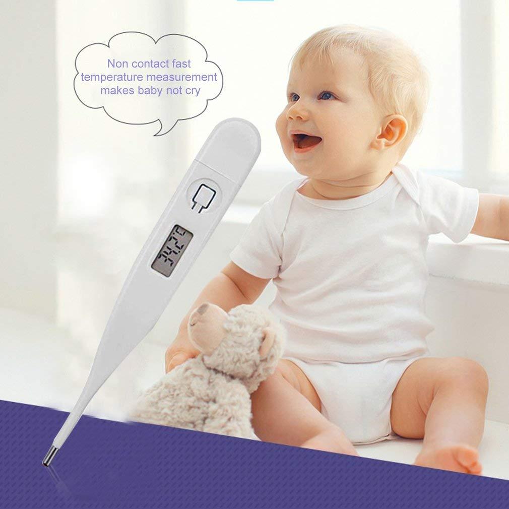 Term/ómetro de precisi/ón Profesional para ni/ños Beb/és Adultos Ni/ños Pantalla LCD Digital Medidor de Temperatura de Fiebre 1PCS