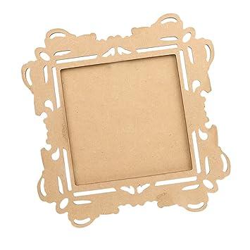 Generic Square Handmade Diy Ornate Frame Unfinished Wood Frames Diy Crafts Amazon In Home Kitchen