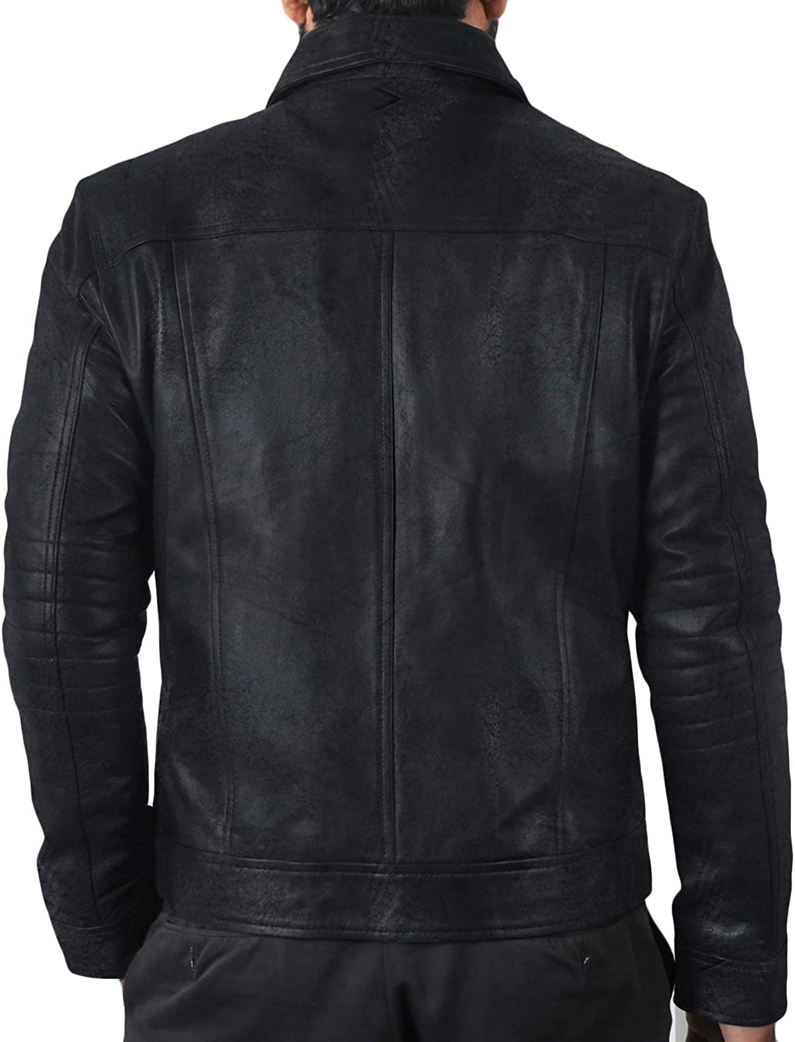 Laverapelle Mens Genuine Lambskin Leather Jacket 1501483 Black, Regal Jacket