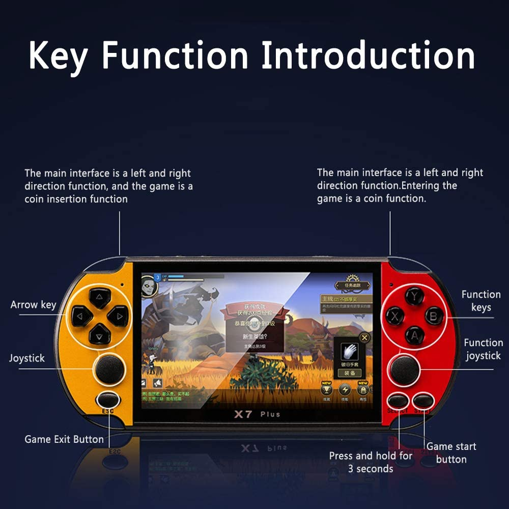 Faxiang 5.1 Handheld Game Console 4.3 8GB Handheld PSP Video Game Console Player Built-in 200 Games Portable Game Console Support Music Photo and Video Formats