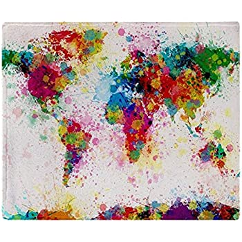 Amazon cafepress world map urban watercolor 14x10 soft cafepress world map paint splashes soft fleece throw blanket 50x60 stadium blanket gumiabroncs Images