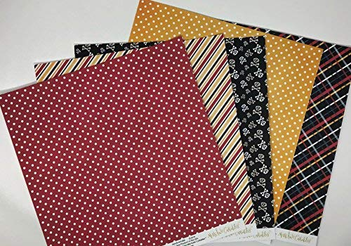 A Pirates Life Pattern Paper Pack Scrapbook Specialty Paper Single-Sided 12x12 Collection Includes 16 Sheets by Miss Kate Cuttables