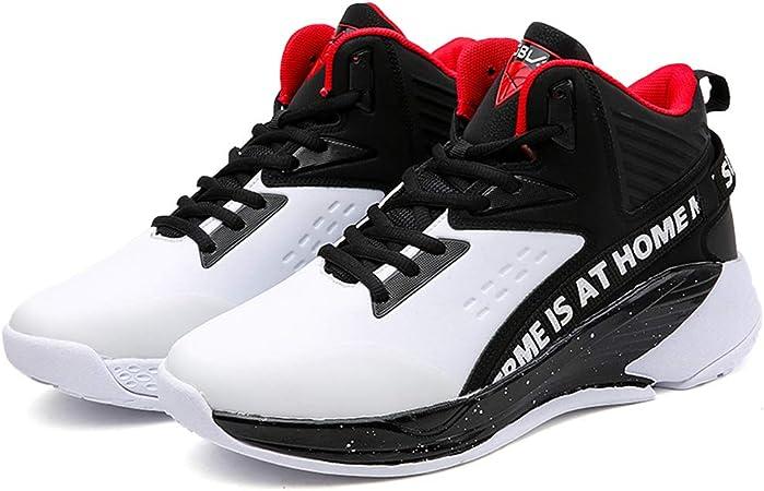 YPPDSD Zapatos de Baloncesto de otoño Botas de Hombre Resistentes al Desgaste Zapatillas Antideslizantes Zapatillas de Deporte Juveniles Transpirables Zapatos Deportivos al Aire Libre,Blanco,43: Amazon.es: Hogar