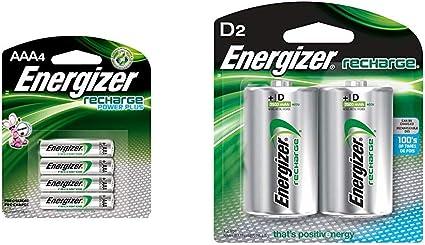 Energizer/Rechargeable D Batteries 2500 mAh NiMH 2 count