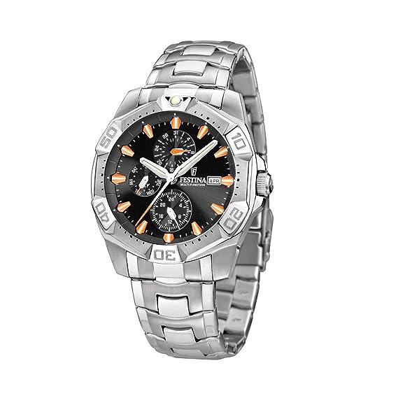 FESTINA F16290/5 - Reloj de caballero de cuarzo, correa de acero inoxidable: Festina: Amazon.es: Relojes