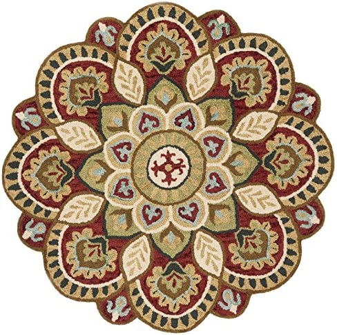 Safavieh NOV604Q-4R Area Rug 4' Diameter Red