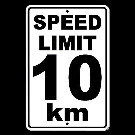 Dozili Speed Limit KM gn Metal mph Slow Warning Traffic Road Highway SW