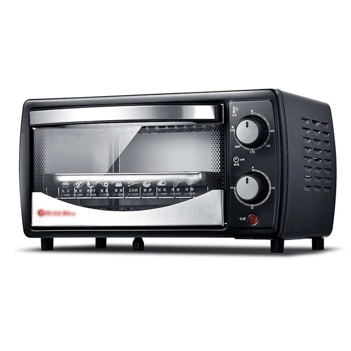 ZCYX ミニオーブン - 多機能電気オーブン12 Lブラック電気オーブンボックス家庭用ベーキングケーキピザオーブン家庭用 -7487 オーブン B07RWBLYFC