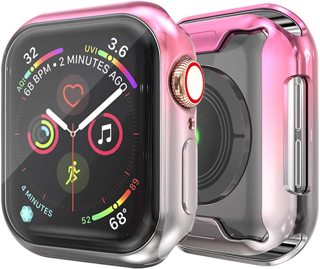 JZK Apple Watch 42mm Screen Protector,iWatch Protective Case Soft Plated TPU All-Around Ultra-Thin Bumper Cover for Apple Watch Series 1/2/3 42mm Nike+, Edition Accessories
