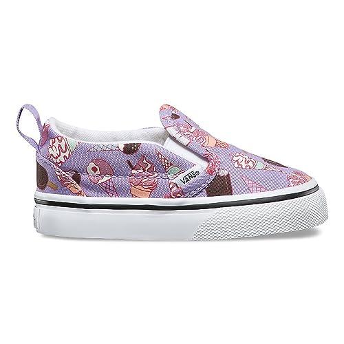 64185a483a Vans Classic Slip-On (Glitter Ice Cream) Sneaker Lavender True White Size 2  Toddler  Amazon.ca  Shoes   Handbags