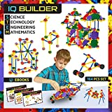 IQ BUILDER | STEM Learning Toys | Creative Construction Engineering | Fun Educational Building Toy Set for Boys and Girls Ages 5 6 7 8 9 10 Year Old + | Best Toy Gift for Kids | 164 PCS Kit with Box