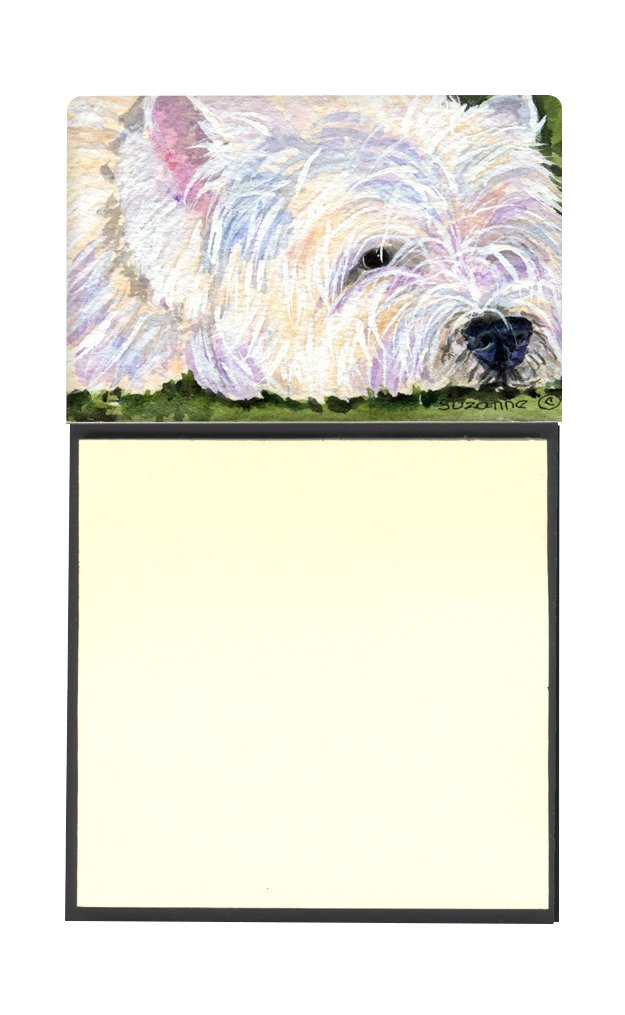 Caroline's Treasures SS8831SN Westie Refillable Sticky Note Holder or Postit Note Dispenser, 3.25 by 5.5'', Multicolor by Caroline's Treasures