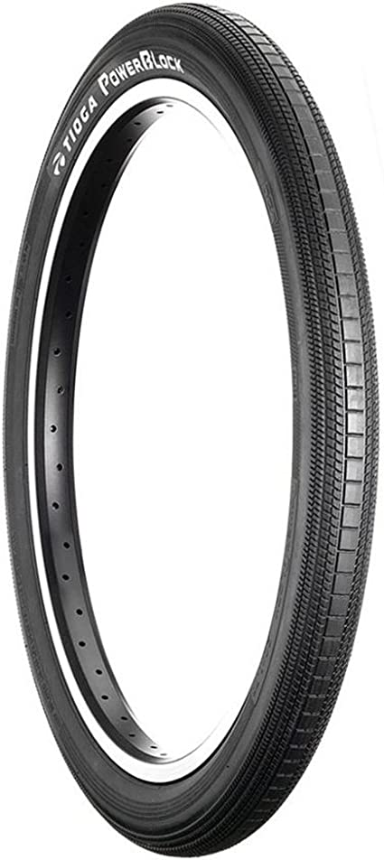 "TIOGA POWERBLOCK 20x1.4/"" Power Block BMX tire BLACK"