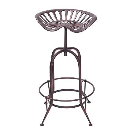 Peachy Decenthome Industrial Metal Corkscrew Rivet Adjustable Trackor Seat Design Bar Stool Antique Bronze Beatyapartments Chair Design Images Beatyapartmentscom
