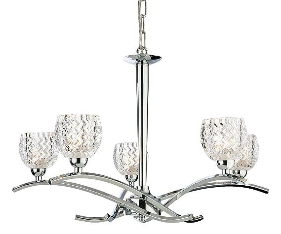 Firstlight - Lámpara de techo (G9, 33 W, 5 bombillas ...