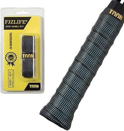 Squash Black badminton racket and bicycle handle over grip Tennis