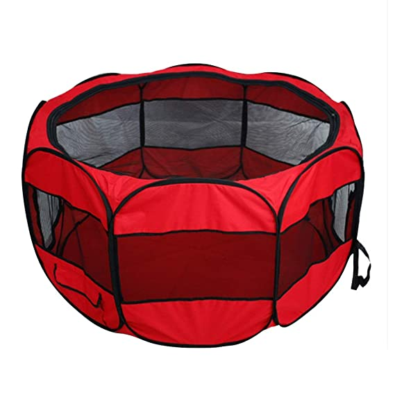LCY Gran Mascota Perro Valla Ocho Cara Tienda Oxford Tela Impermeable Anti-arañazos Perro Gato Nido Maternidad Ward (Color : Negro): Amazon.es: Productos ...