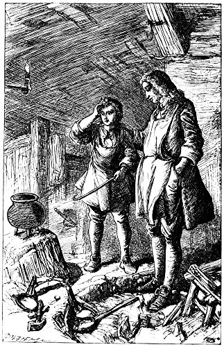 Abraham Darby (1678-1717) Nenglish Ironmaster Darby At His Forge And The Discovery Of Cast Iron Etching English 19Th Century Poster Print by (24 x 36)