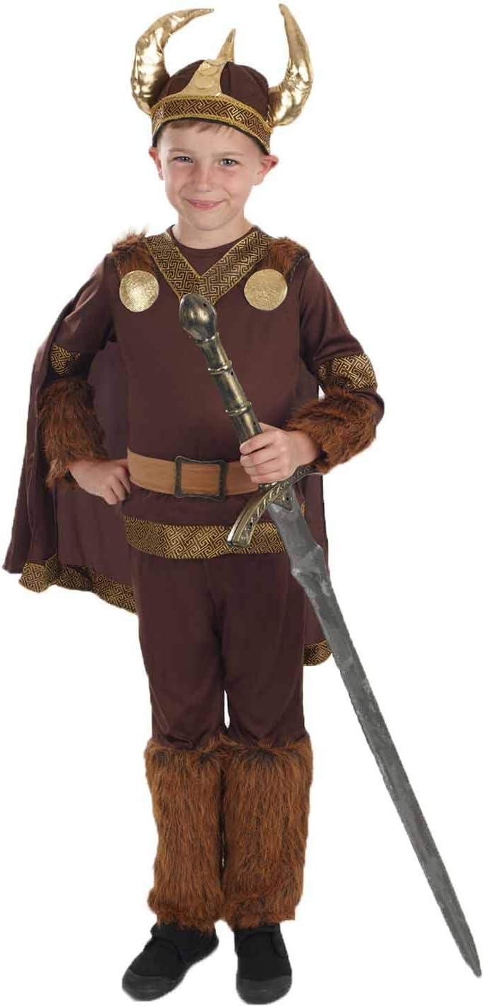 Fun Shack Marrón Vikingo Deluxe Disfraz para Niños - L: Amazon.es ...
