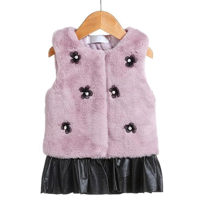 Saihui - Abrigos - Moda - para bebé niña Rosa rosa 110 cm