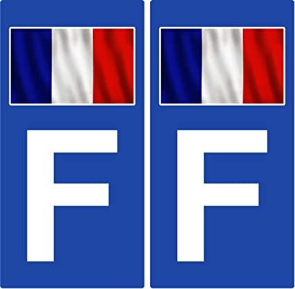 2 Pegatinas de placa de matrícula para automóvil Francia – bandera (lado derecho): Amazon.es: Coche y moto