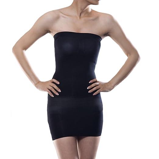 ef99fb3fed734 BaronHong Women s Shapewear Bodysuit Strapless Full Control Slip Waist  Cinchers Body Girdle(black