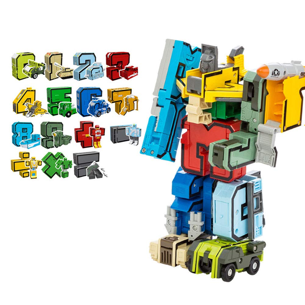 B Byx Digital Deformation Robot Early Education Puzzle Baby Toy Transformers Boy Intellectual Development Assembling Blocks 368 Years Old Baby Birthday Gift toys (color   B)