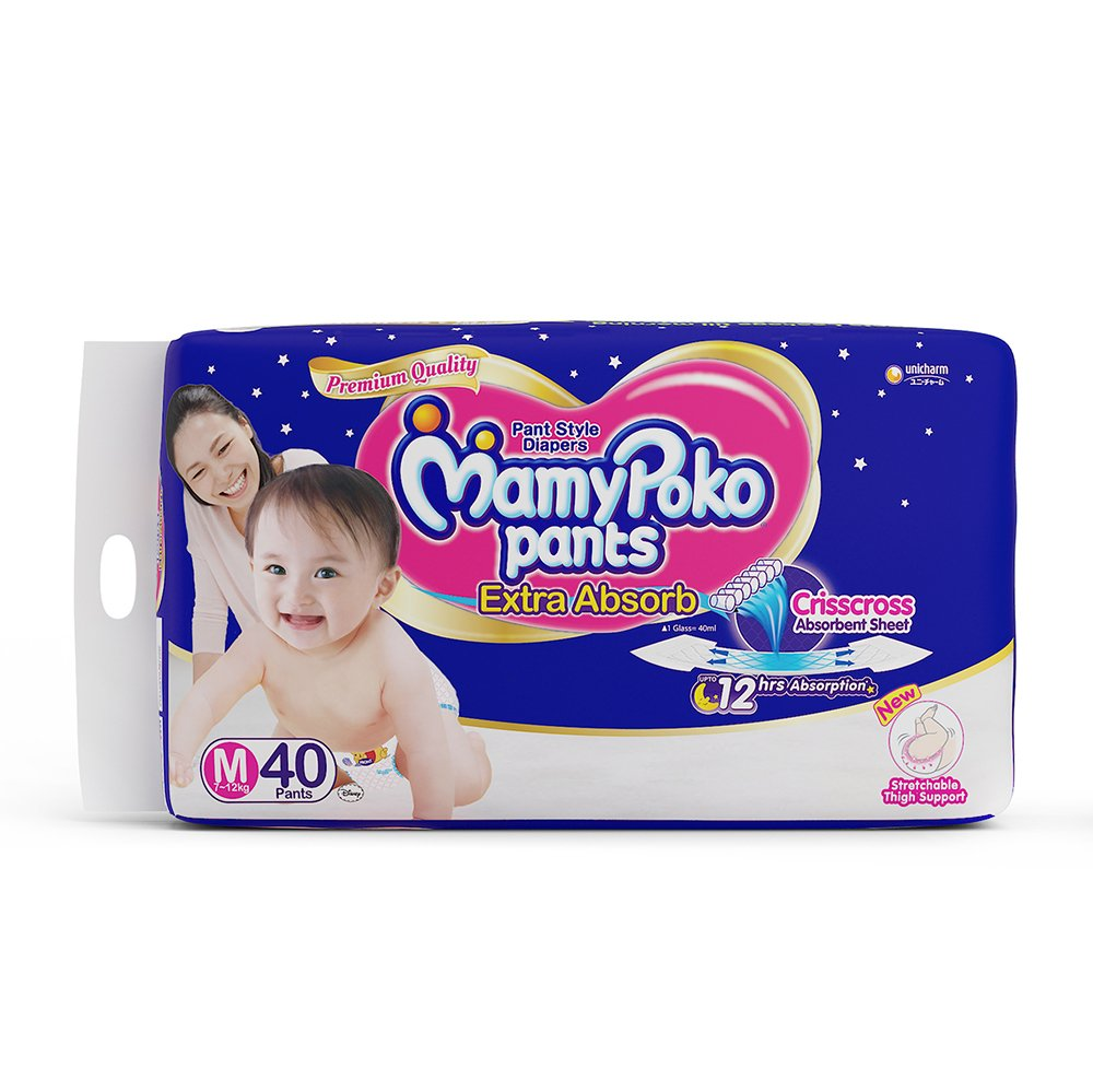 Buy Mamypoko Medium Size Baby Diapers 40 Count Online At Low Pants Extra Soft Xl 30 Girls Prices In India