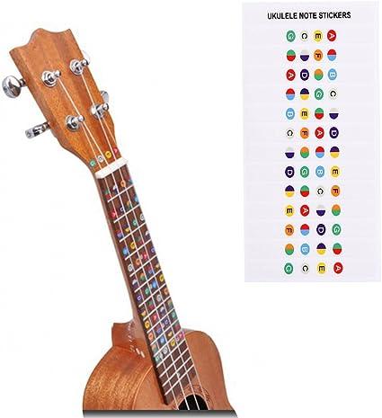 Pegatinas de aprendizaje para guitarra, con código de color de ...