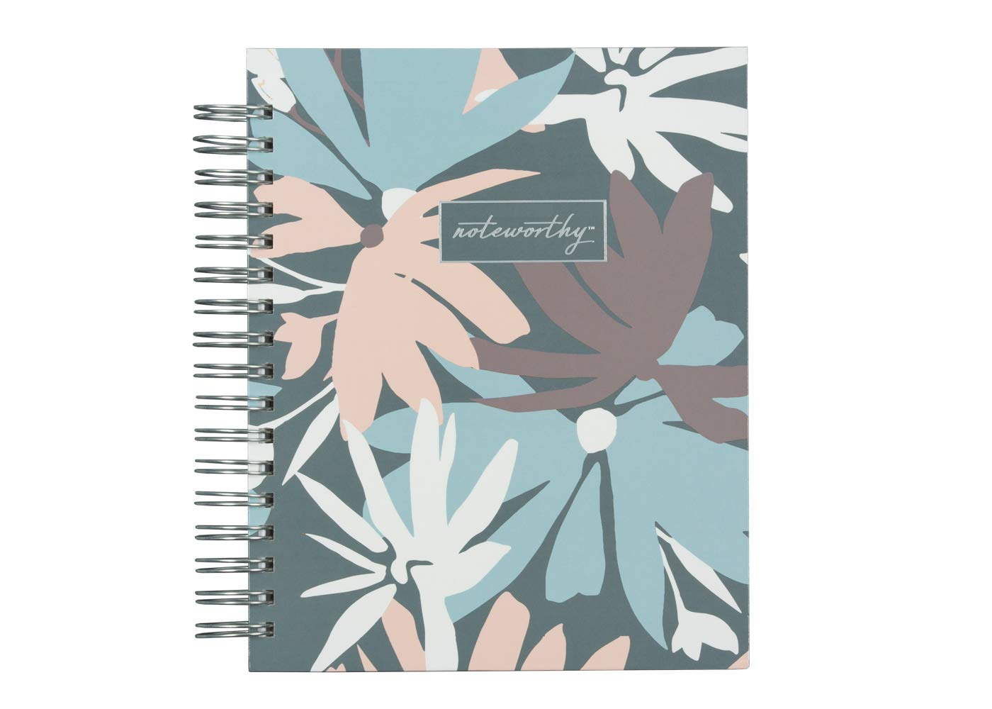 Blue Sky Noteworthy 2019-2020 Academic Year Daily & Monthly Planner, Hardcover, Silver-Tone Twin-Wire Binding, 7'' x 9'', Britt